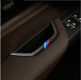 Wholesale film strip - Car styling Main Driving Armrest Box decoration strip Carbon fiber Interior molding for BMW X3 F25 X4 F26 2011-17