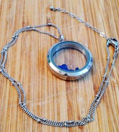 Wholesale Locket Station - 20pcs stainless 20inch ball station floating chains for memory love locket