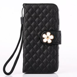 Wholesale S3 Diamond - Luxury Bling Diamond grain Wallet Purse flip stand PU leather case for iphone4S 5S 6S I6plus S6 S6 edge S5 S4 S3 NOTE5 4 3 + Card Holder