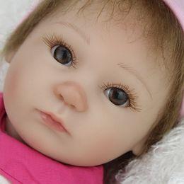 Wholesale Adora Boy Baby Doll - Wholesale-Original Silicone Reborn Baby Doll Lifelike Brinquedos Adora Matryoshka Babies Toy 17 inch Girls Gift