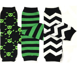 Wholesale Pirates Pc - Halloween Green Black Pirate Skull Baby Leg Warmer Leggings 280 patterns Boys Girls Leggings Tights Snowflakes Socks Baby Sockstights 20 Pc