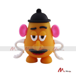 Wholesale Thumb Drives Gb - Cute Rubber PVC Cartoon USB Drive 1 2 4 8 16 32 64 GB G Memory Flash Pendrive Thumb Stick Stable Data Function Cartoon Gift Disk