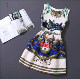 Wholesale Korean Silk Short Dress - 2016 Girl flowers lolita style dresses summer tutu dress princess big size korean kids wear birthday girls teenagers clothes