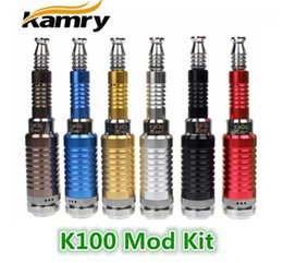 Wholesale Telescopic Vape Mods - 100% Original Kamry K100 Kit E Cig Mod Kit Ecigarette Vape Kit K100 Telescopic mechanical mod Kit with Rechargeable 2200MAH 18650 Battery