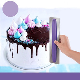 Wholesale Stainless Cake Spatula - Stainless Steel Scraper With PPR Handle Cream Spatulas Firm Durable Fondant Cake Polisher Baking Tools For Home 10be B