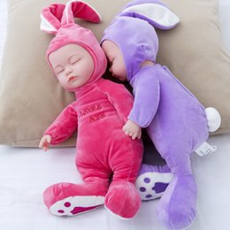 Wholesale Reborn Baby Girl Sleeping - 14 Inch Stuffed Baby Born Doll Toys For Children Silicone Reborn Alive Babies Lifelike Kids Toys Sleep Reborn Doll For Kid Toy