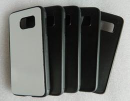 Wholesale Diy Sheet - for samsung galaxy S7   S7 edge TPU+PC sublimation case heat press customize diy case + blank aluminium sheet Free shipping wholesale