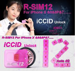 Wholesale Unlock Sim For Cdma - Rsim 12+ r sim 12+ RSIM12+ iphone unlock card foriPhone X iPhone 8 iPhone 7 plus and i6 unlocked iOS 11.x-7.x 4G CDMA GSM WCDMA SB AU SPRINT