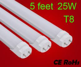 t5 tubo 12w Sconti 5 piedi 25W T8 LED Tube SMD 2835 hight bright Light Lampadina 1.5m AC 85-265V luci 1500mm illuminazione led 4000k 2 anni di garanzia by FEDEX