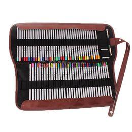 En gros-Nouveau Portable Canvas Roll Crayon Sac Case Pouch Fit 72 PCs Stylos Maquillage Comestic Brush Painting École Art Class Storage ? partir de fabricateur