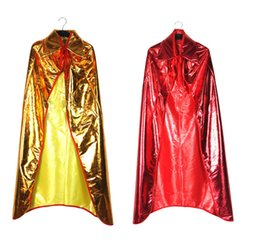 Wholesale Magic Vampire - Wholesale-General Magic Cloak Halloween party Cloak cosplay masquerade vampire cape gold and silver clothing