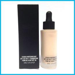 Wholesale High Pa - HOT NEW Makeup Face Studio Waterweight SPF 30 PA++ Foundation Fond de teint 30ML High Quality 150pcs