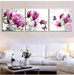 Wholesale Hand Made Cross Stitch Embroidery - Newest DIY Unfinished Cross Stitch 3pcs in1 Set Cross-Stitch Kit Hand-made Embroidery Craft Artworks - Butterfly Yulan Flower