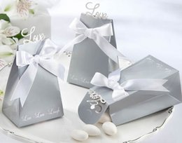 Wholesale Celebration Candy Box - fashion 2015 new design live love laugh silver charm Shower Favor Candy Boxes Gift hold bag for party wedding birthdays celebration