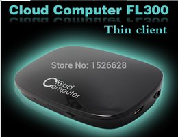Wholesale Thin Client Pc Stations - Wholesale-Mini PC Station Thin Client Cloud Terminals 1080P HDMI VGA RJ45 Ports Fl300 PC Share 1080P RDP 7.1 Dual Core 512MB Flash ARM-A9