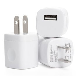 Wholesale mini ac adapter - Hot sale 5V 1A US USB AC Wall Charger Home Travel Charger Adapter Mini USB charger For Samsung Iphone Smartphones mp3 pc