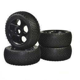 Wholesale Plastic Rims For Cars - 4PCS 1:8 Rubber Tires & Wheel Rims for HSP RC 1:8 Off-Road Buggy Car