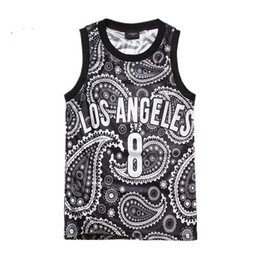Wholesale Vest Tee Shirt - 2015 fashion men women's los angeles printed 3D tank tops Harajuku bandana cool vest summer sleeveless tee shirt tops clothes FG1510