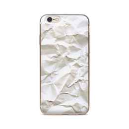 Wholesale Iphone 4s Fold Cover - Wholesale For iPhone 4 4S 5 5S 5C 6 6S 6Plus White Fold Paper Background Of Skin TPU Silicone Gel Protective Cover