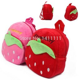 Wholesale Schools Bags Strawberry - Strawberry Baby Backpack Children Cute Cartoon Boy Girl School Kids Children's Bags Rucksack by DHL FREE Shipping