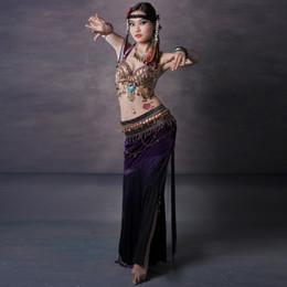 Wholesale Tribal Dancing Bras - Plus Size Tribal Belly Dance D Cup Bra Tribal Style Tassel Belt Dance Pants Plus Size Belly Dance Costume