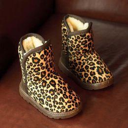 Wholesale Snowboots Boys - Childrens Boot Kids Footwear Kid Boys Girls Leopard Print Boots 2015 Winter Boots Kids Snowboots Children Shoes Kids Shoes Cheap Boot