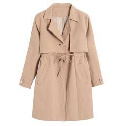 Wholesale White Long Coat For Women - Mori Girl Spring Autumn Trench Coats for women Slim Cotton Long sleeve Preppy Style Women Outerwear