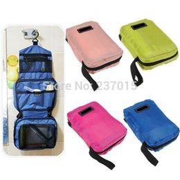 Wholesale Hanging Wash - Free Shipping Travel Cosmetic Makeup Storage Holder Bag Case Toiletry Wash Hanging Organizer Bags