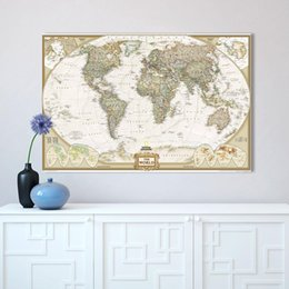 Wholesale Large Canvas Wall Art Wholesale - Wall Art Home Decor no Frame large map of the world Poster Oil Painting on Canvas for Living Room Office Bedroom No Framed