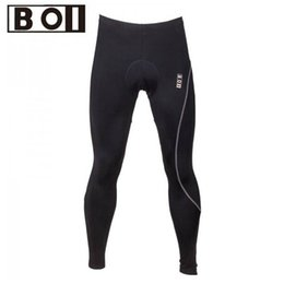 Wholesale Black Padded Sports Wear - Wholesale-Hot sale!! Outdoor B01 brand Sports Black Mens Bike Pants Cycling Riding Padded Tights Bicycle Wear Size S-XXL free shipping