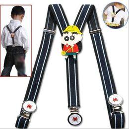 Wholesale Men Suspenders Pants Wholesale - DHL Free New KIDS Suspenders BOYS GIRLS Suspender Children Clip-on Adjustable Elastic Pants Y-back Suspender Braces Belt Kids 35
