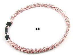 Wholesale Germanium Necklace Titanium - 2015 Germanium titanium triple braided titanium necklace American Baseball Rope titanium necklace