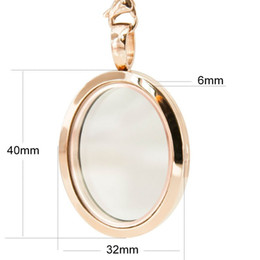Armários oval da foto on-line-Mais novo pingente de medalhão oval de ouro rosa! 316 foto de aço inoxidável medalhão oval pingentes de quadro frete grátis