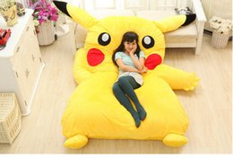 Wholesale Totoro Plush Sofa - PIKACHU design big sofa 2.1m *1.5m PIKACHU dedpika bed PIKACHU SLEEPING BAG totoro bed Cute Giant Rilakkuma cushion bed looks