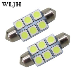 Wholesale High Quality Lamps - WLJH High Quality White 31mm 36mm C5W 5050 6 SMD Interior Festoon Dome Map C5W Car Light Lamp Bulb Pathway lighting 12V Lamp