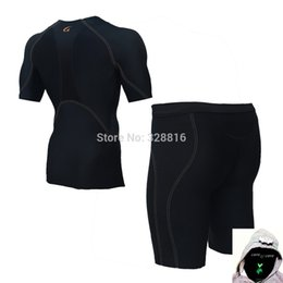 Wholesale Speed Builds - Wholesale-CYCFIT Professional Outdoor sports body-building speed dry tight training suit short sleeve shirt and shorts