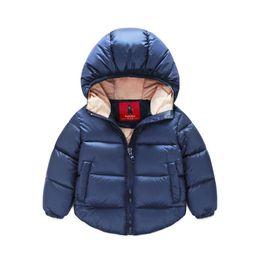 Wholesale Girls Winter Parkas - 2015 baby children parkas christmas warm jacket 4 color boys girls winter snowsuit coat outerwear kids Windproof parkas 2-7year