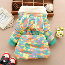 Wholesale Boys Corduroy Coats - Cute Rabbit Baby Winter Jacket Thick Cotton-Padded Baby Girl Outerwear Infant Baby Boys Parka Toddler Girls Snow Wear Baby Coat