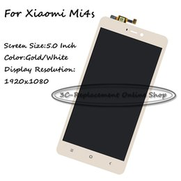 Wholesale Mobile Accesories - Mobile Phone Accesories Parts Mobile Phone LCDs Gold White New Repair Parts For Xiaomi Mi 4s M4s Mi4s LCD Display + Touch Screen