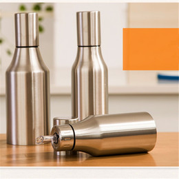 Wholesale Oil Dispenser Bottle - Thickened Oil Dispenser Bottle Stainless Steel Leak Proof Oils Pot Durable With Cover Kitchen Tools Convenient 16 5sh B R