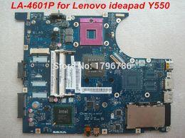 intel express h61 Rebajas Al por mayor-Original LA-4601P placa base para Lenovo Ideapad Y550 Intel DDR3 integrado prueba y envío gratis