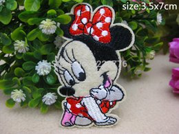 Wholesale Wholesale Character Patches - 3.5cm * 7CM New fashion Character Badge embroidered Appliques DIY accessory hat package garment bag hot paste patch