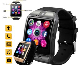 Wholesale Gps Watch Phones - Smart Watches Q18 Bluetooth Smartwatch for Apple iPhone IOS Samsung Android Phone with SIM Card Slot Wristbands GPS Smart Watch