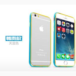 Wholesale Double Color Metal Aluminum Case - Double color Aluminum Bumper Luxury Metal Frame Case For iPhone 6 Plus 5.5inch