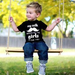 Wholesale Boys Pc Summer Suit - 2016 Boys Children Sets Letter Printed Kids Clothes Suits Cotton T-shirts+Jeans Trouser 2 Pcs Set Enfant Clothing Outfits Trouser Suit