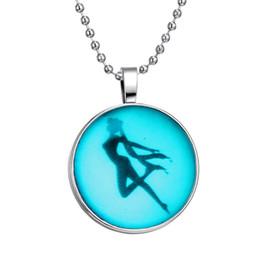 Wholesale Diamond Necklace Cartoon - Fluorescent cartoon sailor moon necklace creative time diamond necklace Luminous fluorescent necklace women's jewelry