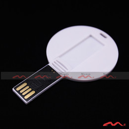 Wholesale Usb Flash Disk 1gb - White Round Card 1GB U-disk USB2.0 Stick Drive Plastic Memory Flash Pendrive Provide custom logo Factory outlets Wholesale 10PCS