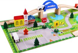 Wholesale Toy Cars Wooden Tracks - Learning Toys Nerf Toys Education Toy Acool Toy 130 pcs Fantastic DIY Car Track Set Wooden Toys for Gift Fashion Baby Toys