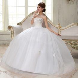 Wholesale Sequin Bra Dress Size 16 - China Vestido Longo De Renda! New 2015 Wedding Dresses Hot Selling Bra Straps Wedding Photography Wedding Flower Waist Dress Cheap CH030
