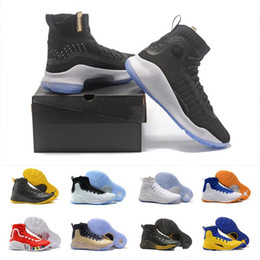 Wholesale Tai Chi Leather Shoes - New Stephen Curry 4 Mens shoes cheap store More Magic 4s Miami Tai chi men Good Stephen Curry Men Basketball shoes 40-46